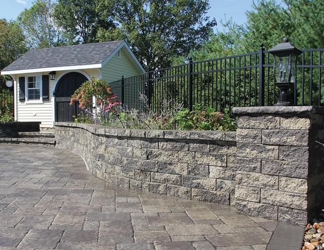 5 inch Colonial Wall Granite City Blend